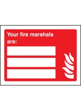 Your Fire Marshals Are (Space for 3 People)