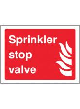 Sprinkler stop valve