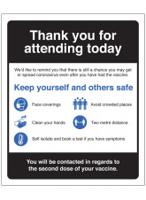 COVID-19 Vaccination Thank you for attending, Keep yourself and others safe