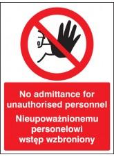No Admittance to Unauthorised Personnel (English/polish)