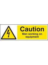 Caution Men Working On Equipment