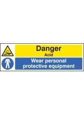 Danger Acid Wear PPE