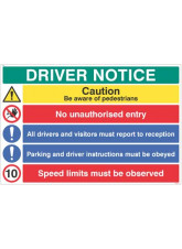 Driver Notice be Aware of Pedestrian - 10mph
