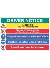 Driver Notice be Aware of Pedestrian - 5mph