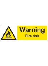 Warning Fire Risk
