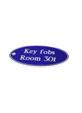 Blue Key Fob - Oval