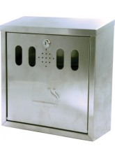 Wall Mounted Stainless Steel Cigarette Bin