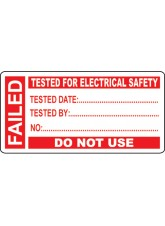 250 x PAT Test Write On Labels - Failed - 50 x 25mm