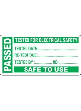 250 x PAT Test Write On Labels - Passed - 50 x 25mm