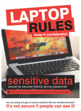 Laptop Rules Poster
