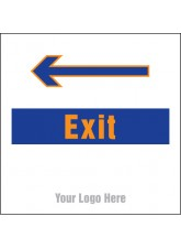 Exit - Arrow Left - Site Saver Sign - 400 x 400mm