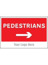 Pedestrians - Arrow Right - Site Saver Sign - 600 x 400mm