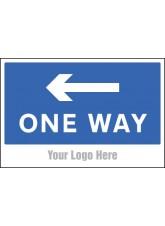 One Way - Arrow Left - Site Saver Sign - 600 x 400mm