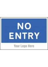No Entry - Site Saver Sign - 600 x 400mm