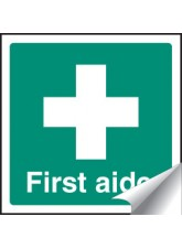 First Aider - Sticker - 25 x 25mm