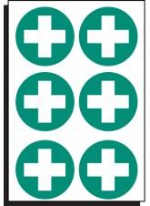 6 x First Aid Symbol - 65mm Diameter