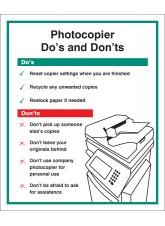 Photocopier - Do's & Don'ts