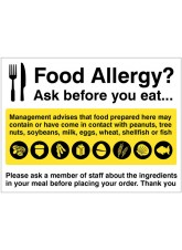 Food Allergy Notice