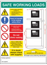 SWL Cantilever Racking Sign - 5mm Foamex - 450 x 600mm