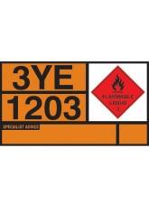 Petrol Hazchem Placard - Self Adhesive Vinyl