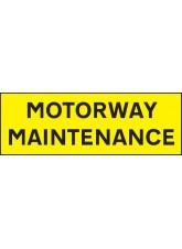 Motorway Maintenance - Reflective Magnetic - 800 x 275mm