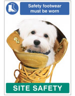 Safety Footwear must be Worn - Dog Poster