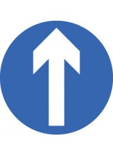 Direction Arrow forward - Class R2 Permanent - 600mm