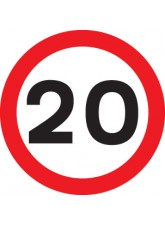 20 mph - Class R2 Permanent - 600mm Diameter