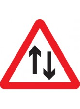 Two Way Traffic - Class R2 Permanent - 600mm Triangle