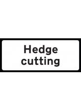 Hedge Cutting Supp Plate - Class RA1 - 850 x 355mm
