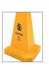 Caution Wet Floor - Hazard Cone - 500mm - Triangular