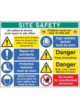 Site Safety Board 1200 x 1000mm