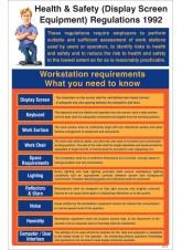 Display Screen Equipment Regulations 1992 Poster