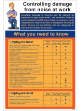 Controlling Damage From Noise At Work Poster