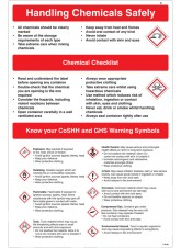 Handling Chemicals Safely Poster