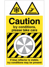Ice Detector - Caution Icy Conditions