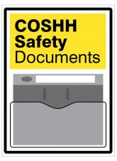 COSHH Safety Document Holder Sign