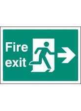 A4 Fire Exit Right