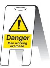Men Working Overhead - Self Standing Folding Sign