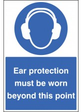 Ear Protection Must Be Worn - Floor Graphic
