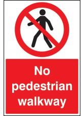 No Pedestrian Walkway - Floor Graphic