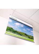 Ceiling Hanging Snap Frame Kit 420mm wide aluminium