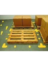 Yellow Floor Signal Markers (Circle) - 90mm Diameter (Pack of 100) - Yellow