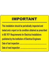 Periodic Inspection Labels