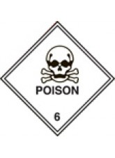 Roll of 100 Poison 6 Labels - Roll of 100 100mm