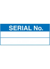 Roll of 100 Serial Number Labels - 50 x 20mm
