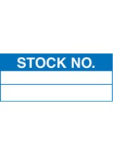 Roll of 100 Stock Number Labels - 50 x 20mm
