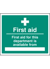First Aid for Department Available From