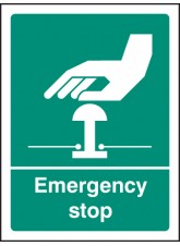Emergency Stop (white / Green)
