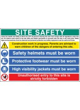 Site Safety - Hard Hat - Vest and Boots